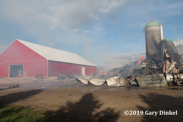 barn fire in Woolwich Township ON