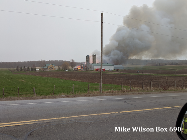 barn fire in Wellesley Township ON