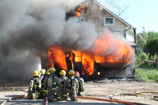 Firefighters burn house for homeowner