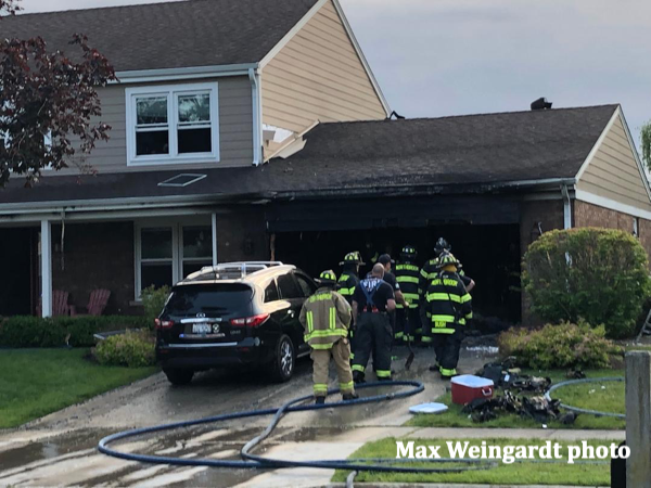 aftermath of fire in an attached garage