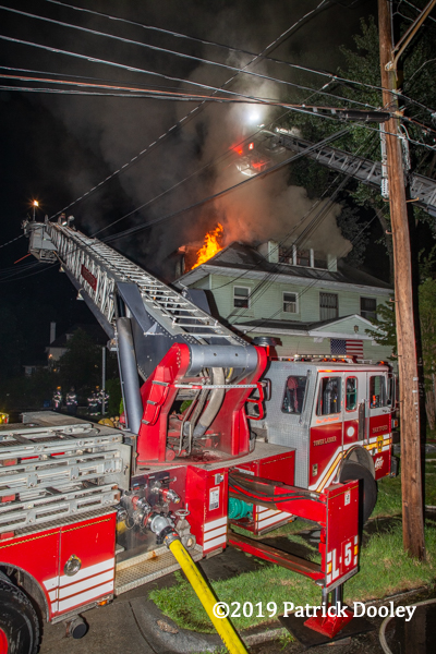 Hartfod CT house fire at night