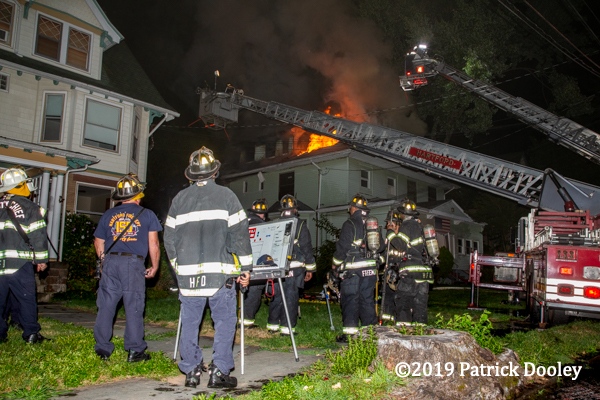 Hartford CT Firefighters at house fire