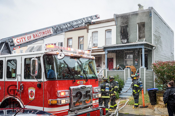 Baltimore City FD at a fire scene