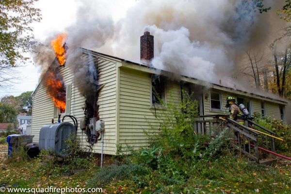 house fire in Bolton CT