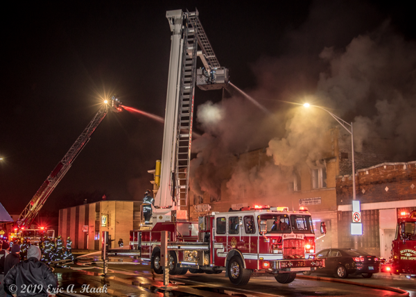 3-Alarm fire in Bellwood IL - December 8 2019