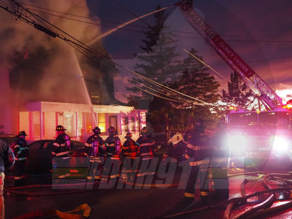3-Alarm fire in Quincy MA