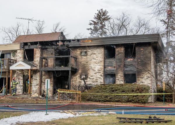 apartment building destroyed by fire