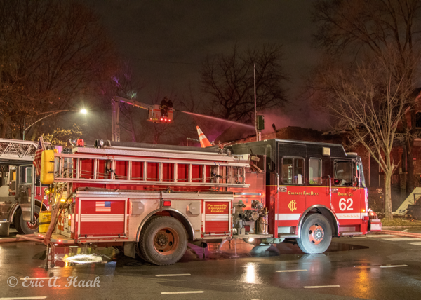 Chicago fire engine at a fire