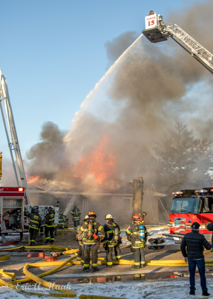 master streams at fire scene