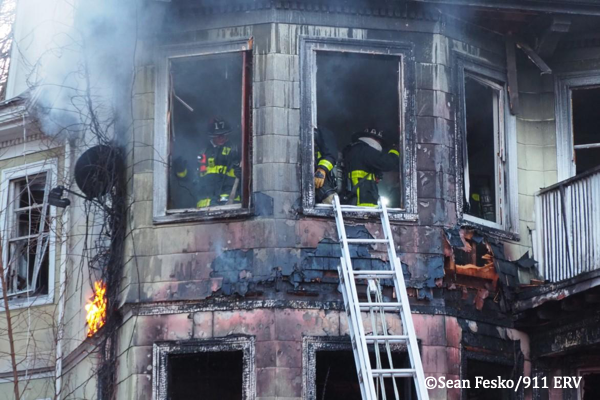 Boston house gutted by fire