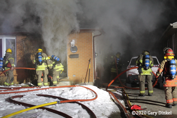 basement fire at 76 Blackthorne Cres