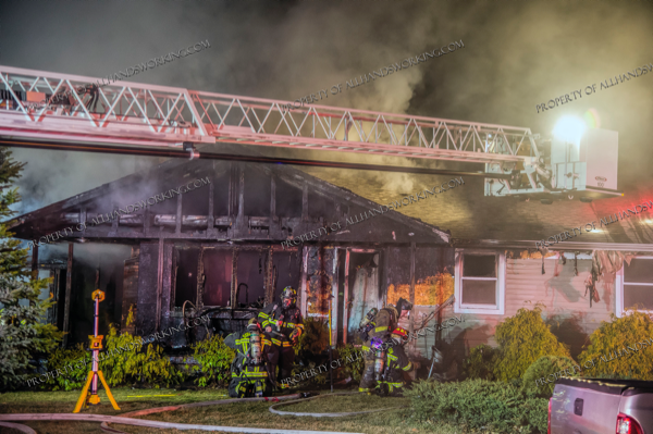 night time house fire in Southington CT