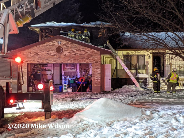 house fire in bitter cold and snow