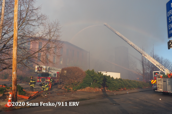 massive fire destroys mill buildings in Pawtucket RI