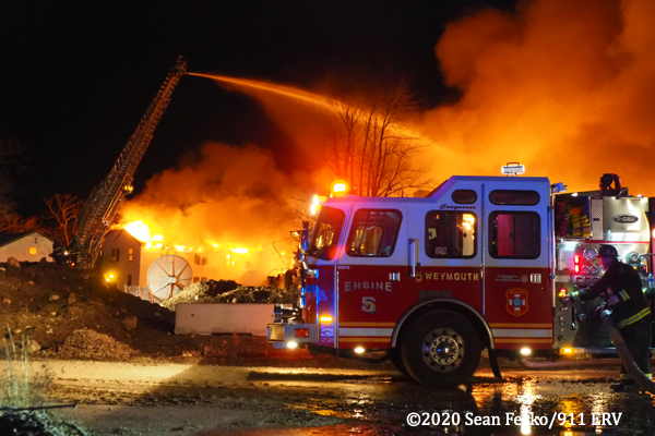 2-Alarm fire in Weymouth MA