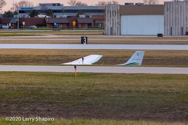 plane misses runway at Chicago Executive Airport