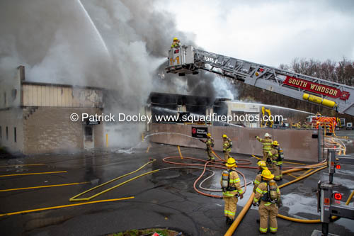 South Windsor Firefighters at fire scene