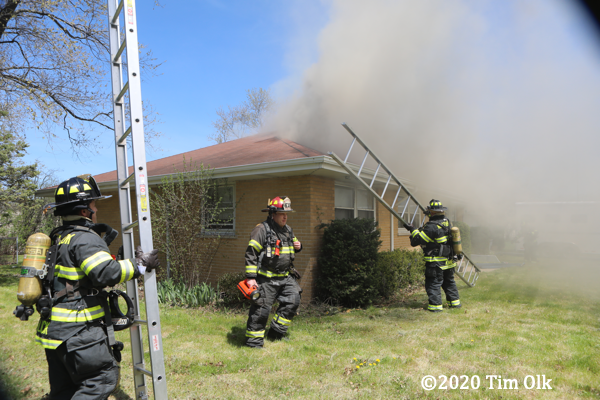 Northbrook Firefighters at house fire
