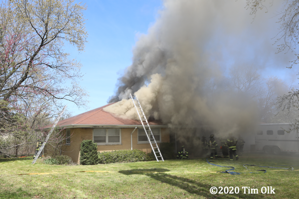 house fire in Northbrook IL