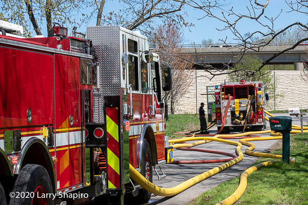 fire trucks with hose off