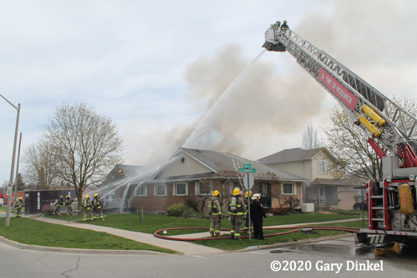 house fire in Woolwich Township Ontario