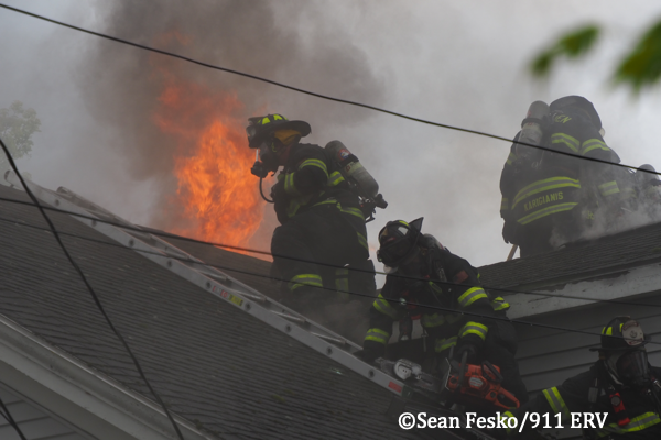 3-Alarm house fire in Medford MA