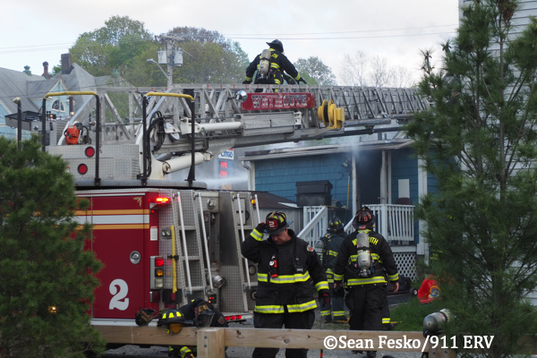 Weymouth Firefighters at fire scene