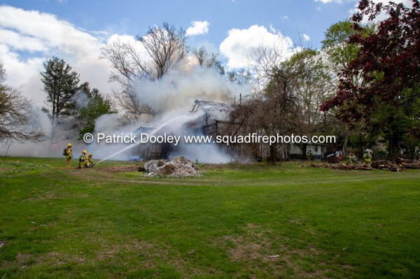 barn destroyed by fire