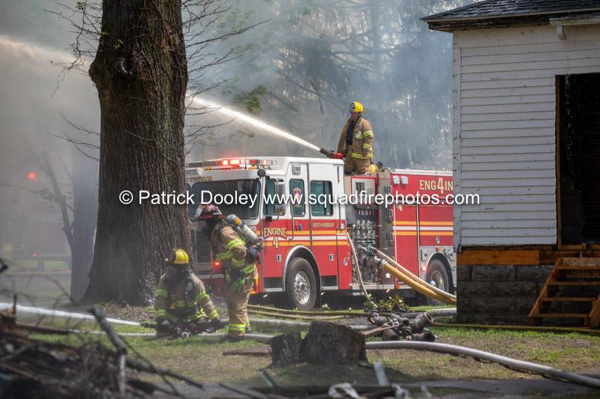 South Windsor Firefighters at a fire scene