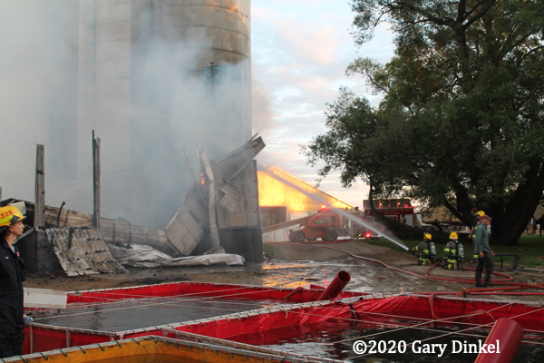 Barn fire in Wilmot Ontario
