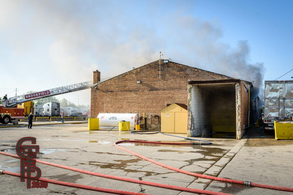 commercial building fire in McCook IL