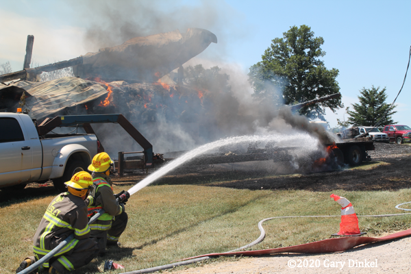 Barn fire in Wellesley Township ON 7-4-20