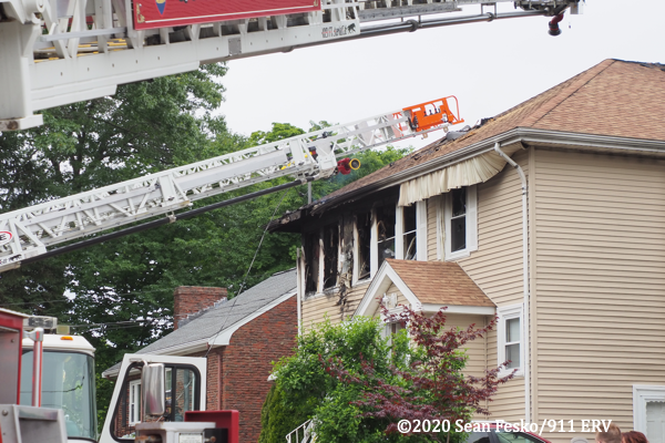 house fire in Quincy MA