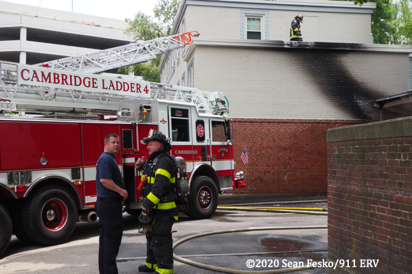 2-Alarm fire in Cambridge MA