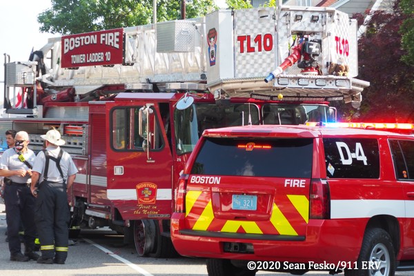 Boston FD Tower Ladder 10 was damaged in a crash