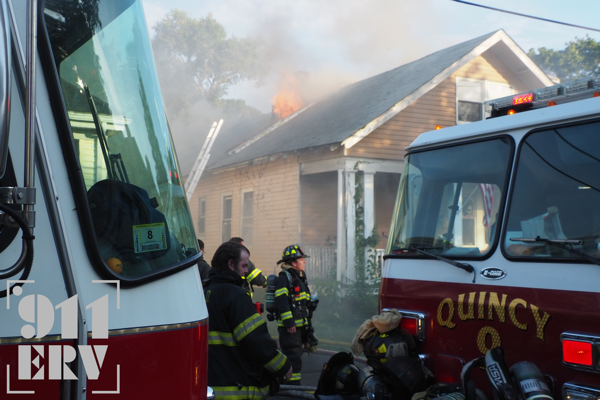 4-Alarm fire in Quincy, MA