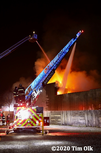 vacant Hammond building destroyed by fire