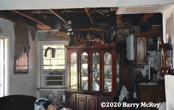 room damaged by fire