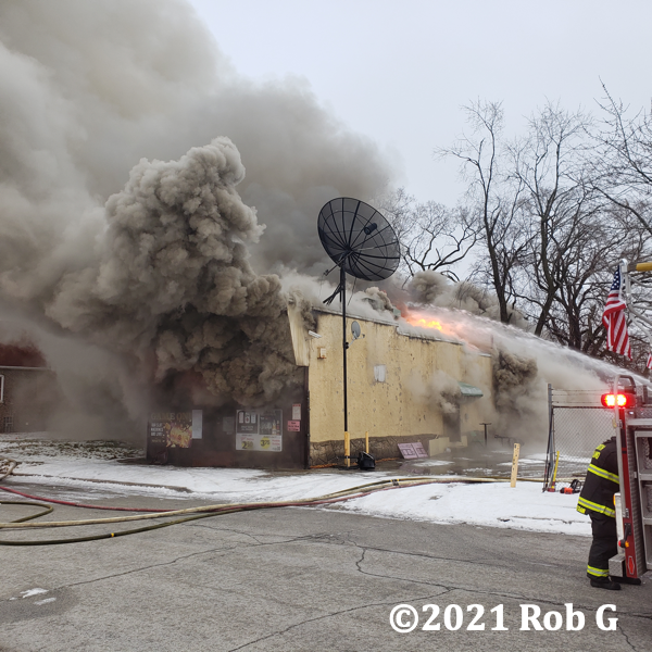 Lauer's Tap fire in Calumet CIty