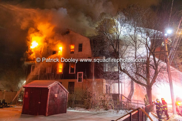 2-alarm house fire in Hartford CT