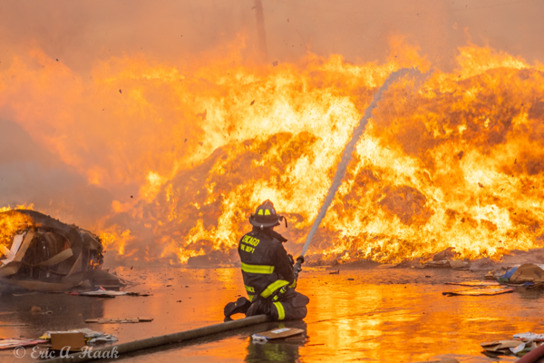 massive flames destroy recycling yard