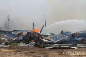 aftermath of barn fire