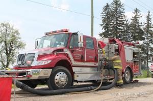 rural water supply at fire scene