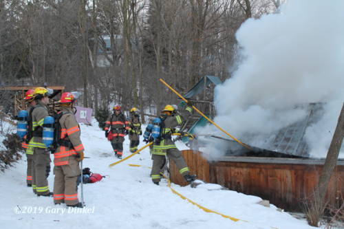 Kitchener ON Firefighters at fire scene