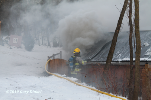 Kitchener Firefighters fight garage fire