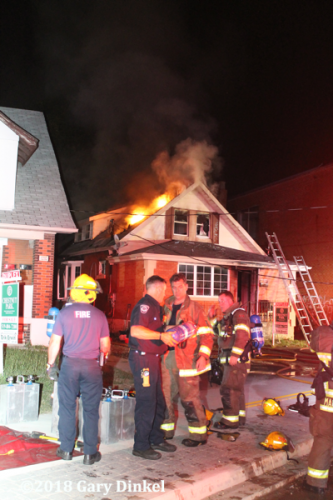 house fire on King Street in Kitchener Ontario