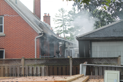 house fire scene in Kitchener ON