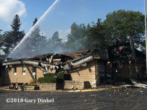 fire destroyed the Ontario Provincial Police station