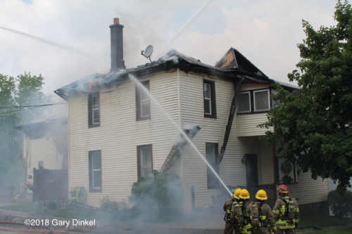 3-alarm apartment fire in Wellesley Ontario