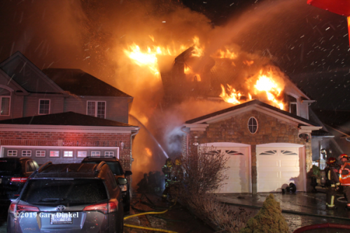 massive fire in a house in Cambridge Ontario